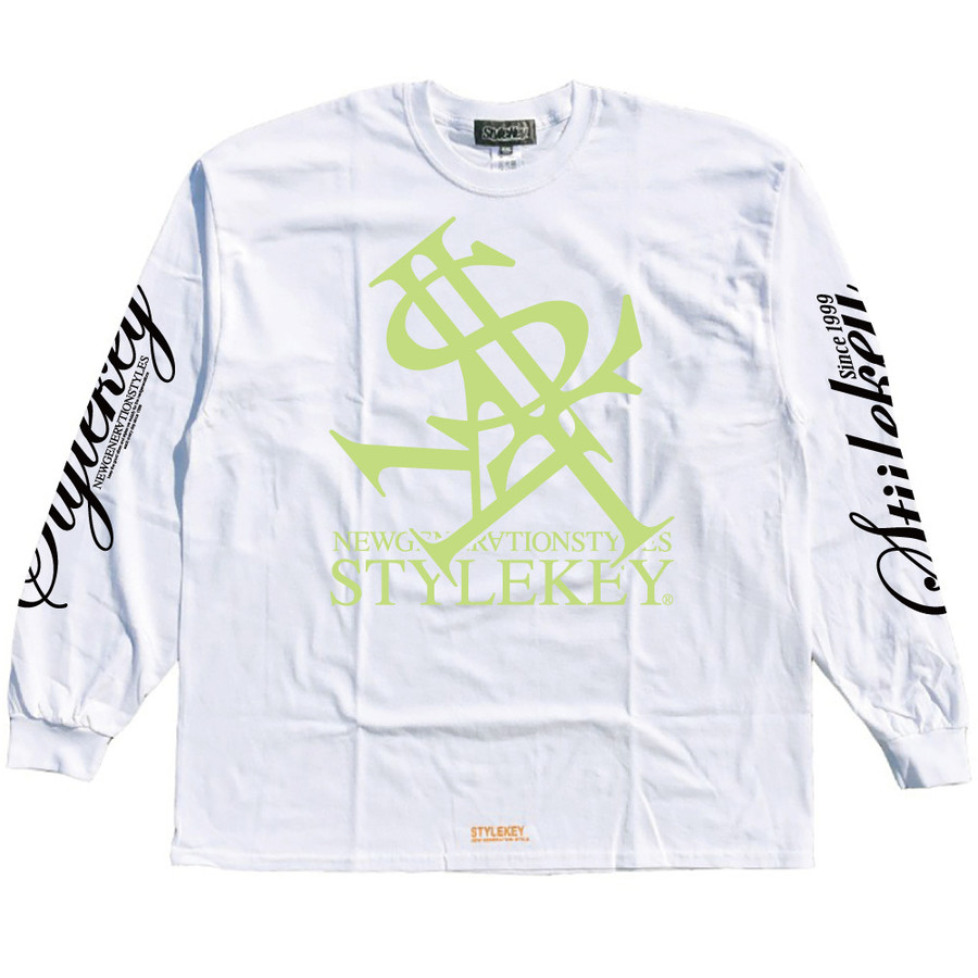 STYLEKEY(スタイルキー) 長袖Tシャツ NEON ROYAL L/S TEE(SK21FW-LS07) ロングスリーブTシャツ ストリート ヒップホップ レゲエ B系 ロイヤル ロゴ 大きいサイズ|b-bros|12
