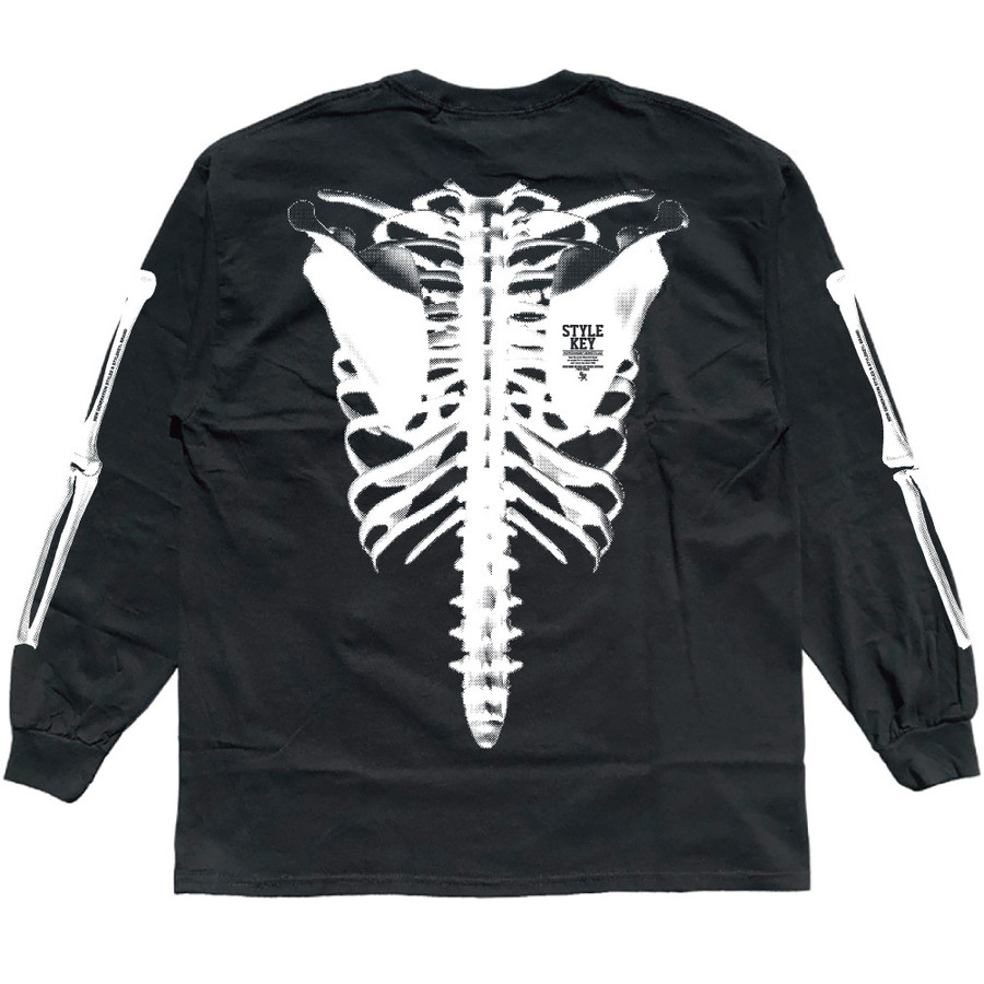 STYLEKEY(スタイルキー) 長袖Tシャツ SKELETON L/S TEE(SK21FW-LS08) ロングスリーブTシャツ ストリート ヒップホップ レゲエ B系 骨 ボーン ロゴ 大きいサイズ b-bros 09