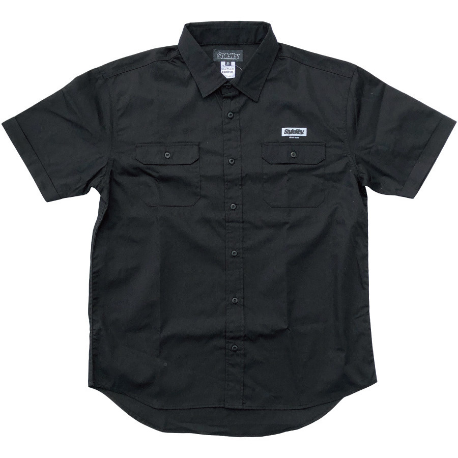 STYLEKEY スタイルキー 半袖ワークシャツ  SCALE S/S WORK SHIRT(SK21SP-BL01) ストリート系 ヒップホップ レゲエ バンド B系 ロゴ ブラウス 大きいサイズ|b-bros|08
