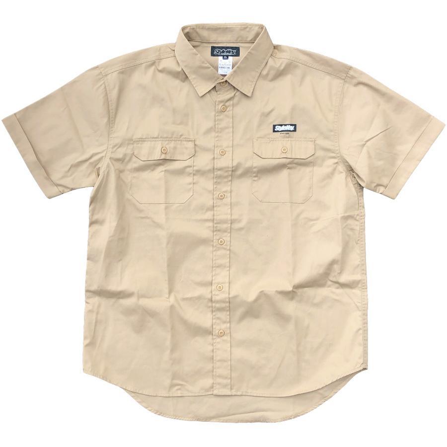 STYLEKEY スタイルキー 半袖ワークシャツ  SCALE S/S WORK SHIRT(SK21SP-BL01) ストリート系 ヒップホップ レゲエ バンド B系 ロゴ ブラウス 大きいサイズ|b-bros|09