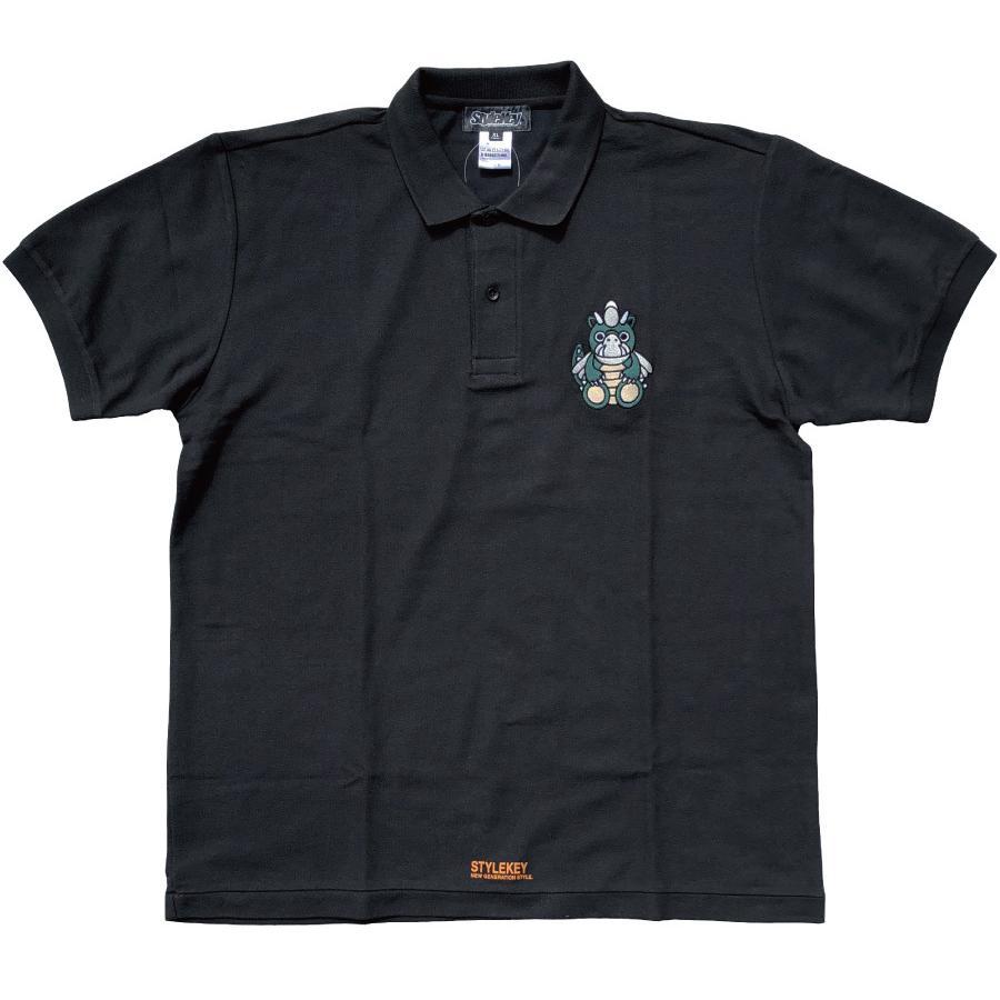 STYLEKEY スタイルキー ポロシャツ DORA-CHAN 鹿の子 S/S POLO(SK21SP-PL01) ストリートファッション B系 ヒップホップ レゲエ キャラクター 刺繍 大きいサイズ b-bros 06