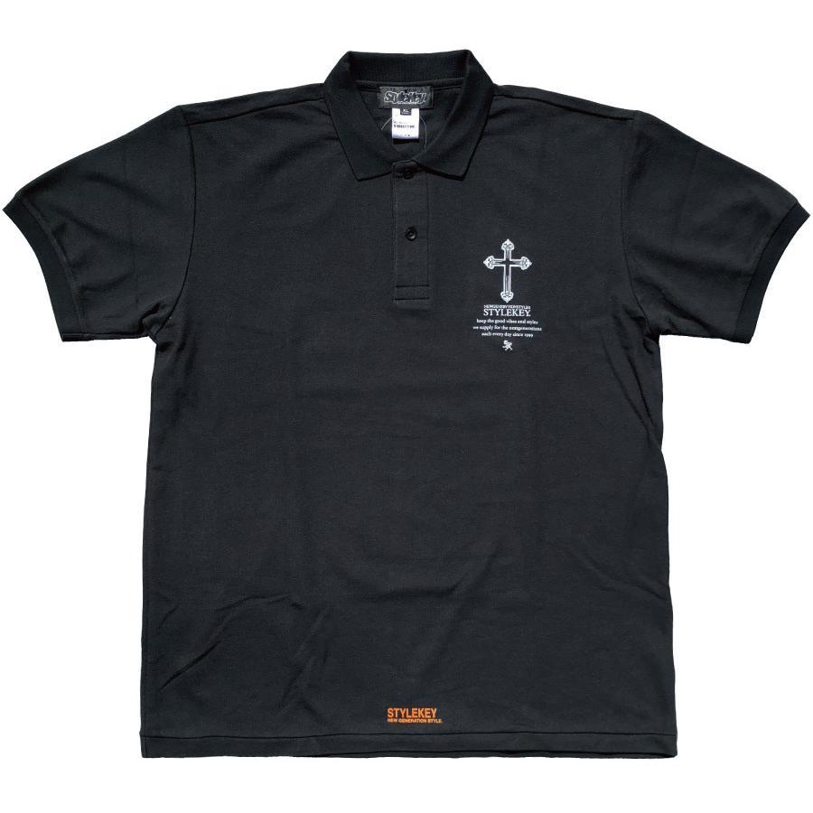STYLEKEY スタイルキー ポロシャツ SACRED PLACE 鹿の子 S/S POLO(SK21SP-PL02) ストリート系 B系 ヒップホップ レゲエ 聖母マリア 十字架 大きいサイズ|b-bros|08