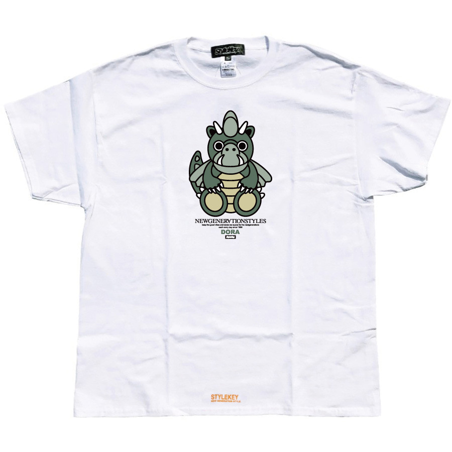 STYLEKEY スタイルキー 半袖Tシャツ DORA-CHAN S/S TEE(SK21SP-SS05) ストリート系 ヒップホップ レゲエ B系 ドラゴン キャラクター 大きいサイズ b-bros 08