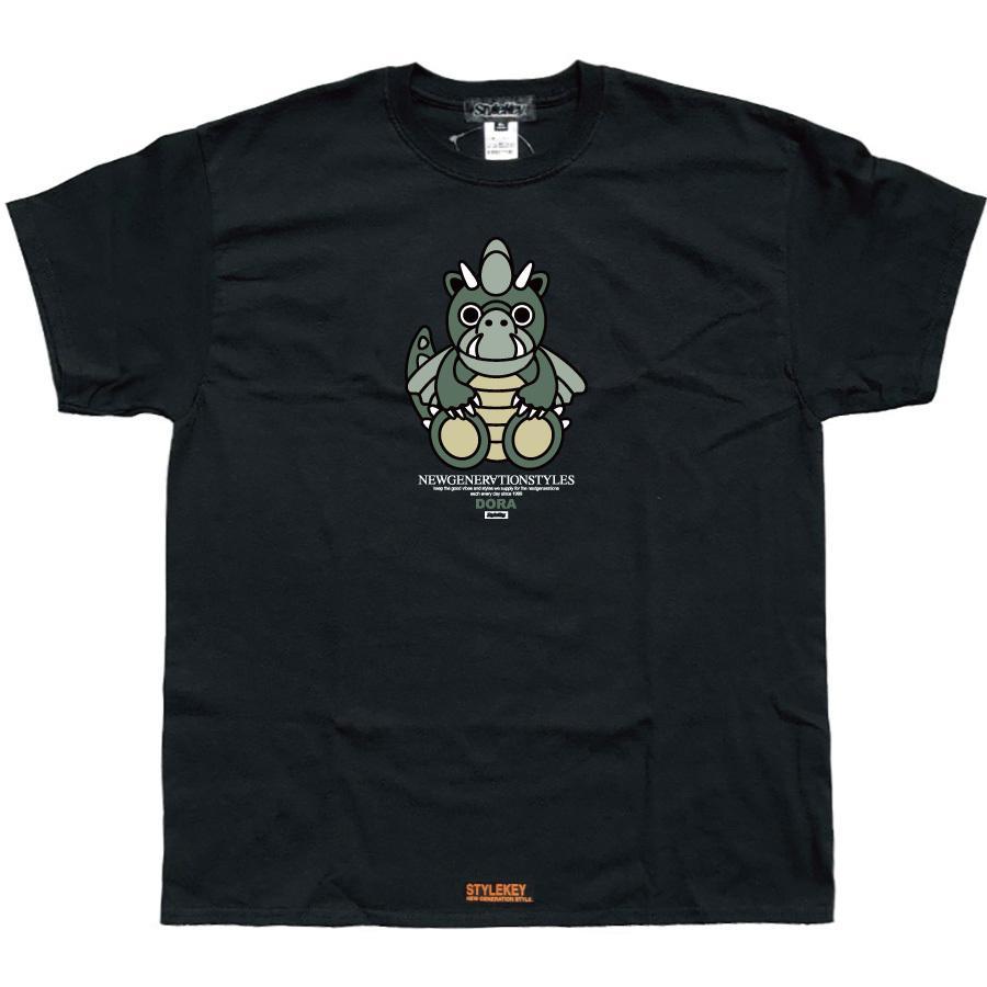 STYLEKEY スタイルキー 半袖Tシャツ DORA-CHAN S/S TEE(SK21SP-SS05) ストリート系 ヒップホップ レゲエ B系 ドラゴン キャラクター 大きいサイズ b-bros 09