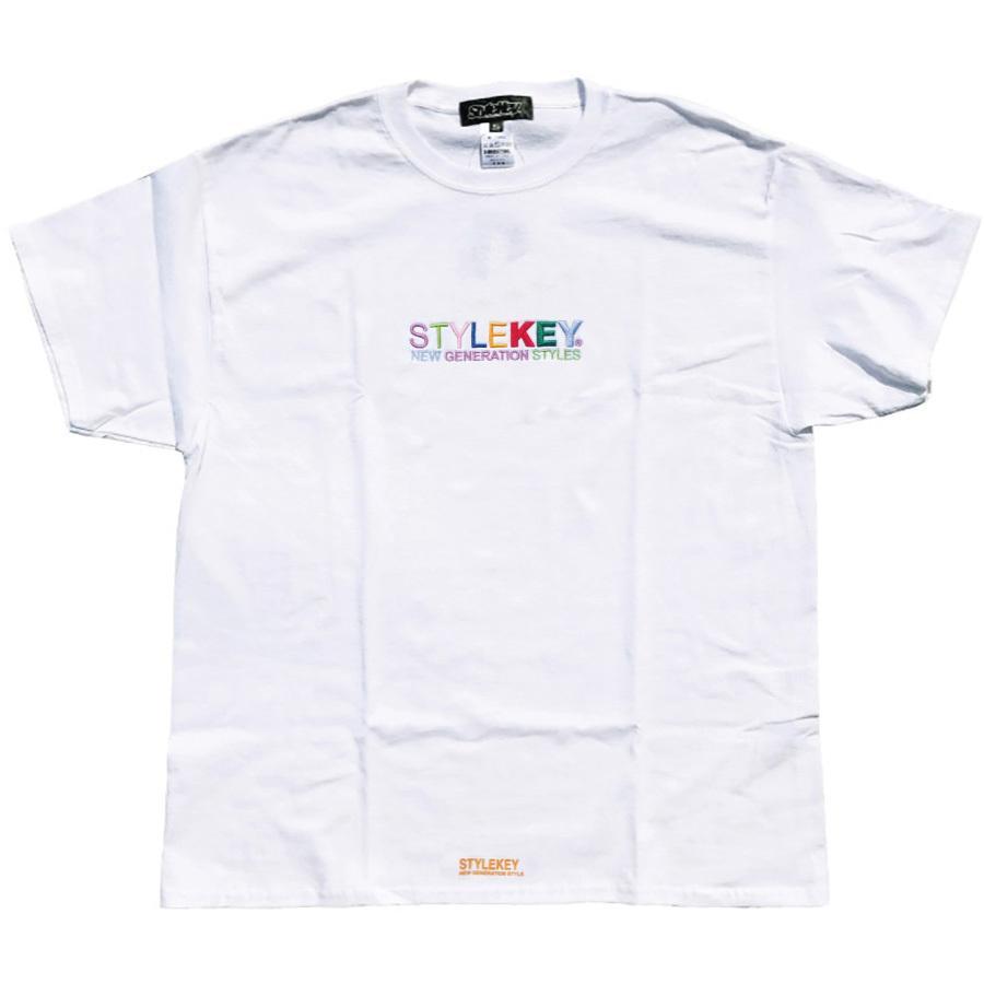 STYLEKEY スタイルキー 半袖Tシャツ WEALTH S/S TEE(SK21SP-SS07) ストリートファッション ヒップホップ レゲエ ダンス B系 カラフル ロゴ 刺繍 大きいサイズ|b-bros|09
