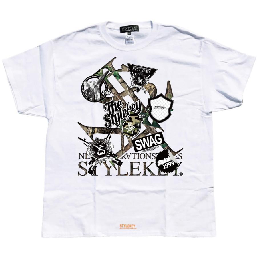 STYLEKEY スタイルキー 半袖Tシャツ SWAG S/S TEE(SK21SU-SS05) ストリート系 ヒップホップ レゲエ B系 ロゴ 迷彩 カモフラ 大きいサイズ b-bros 08
