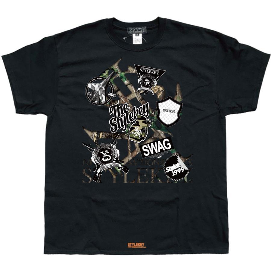 STYLEKEY スタイルキー 半袖Tシャツ SWAG S/S TEE(SK21SU-SS05) ストリート系 ヒップホップ レゲエ B系 ロゴ 迷彩 カモフラ 大きいサイズ b-bros 09