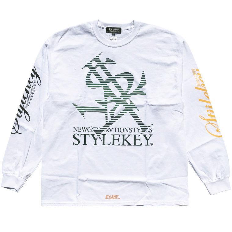 STYLEKEY CLASSIC LABEL(スタイルキー クラシック・レーベル) 長袖Tシャツ BLIND L/S TEE(SK99CL-LS01) ロングスリーブ ストリート ロゴ 大きいサイズ|b-bros|08