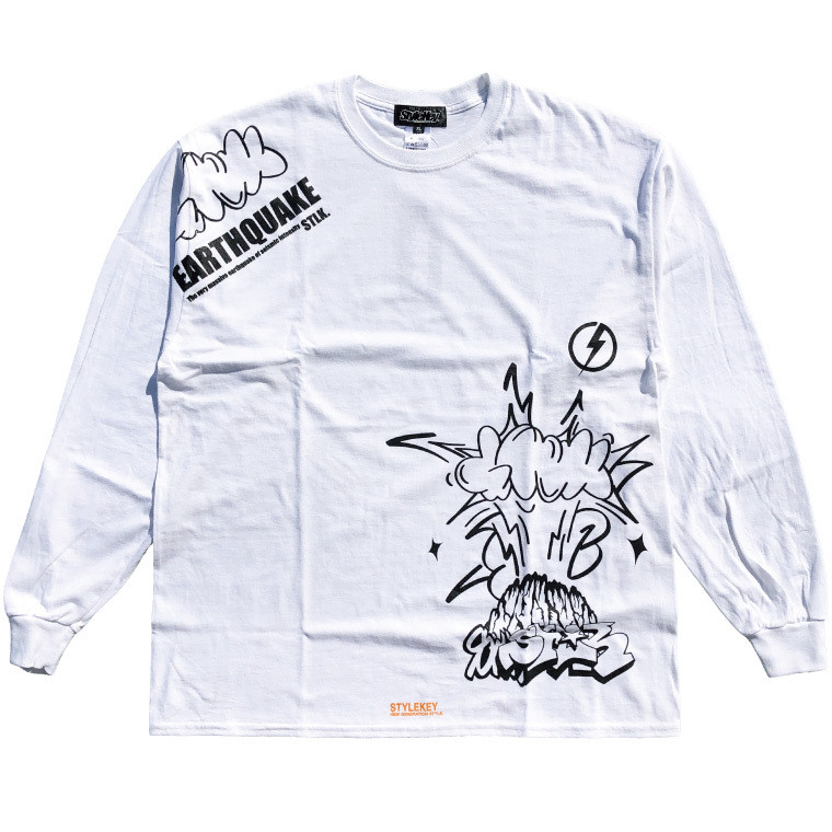 STYLEKEY CLASSIC LABEL(スタイルキー クラシック・レーベル) 長袖Tシャツ EARTHQUAKE L/S TEE(SK99CL-LS04) ロンT ストリート グラフィック 大きいサイズ b-bros 08