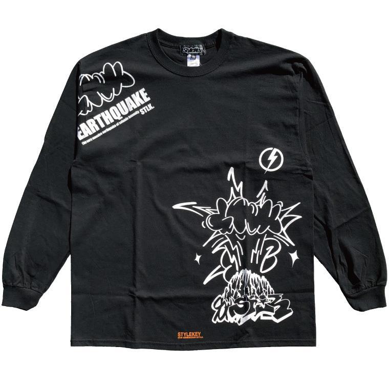 STYLEKEY CLASSIC LABEL(スタイルキー クラシック・レーベル) 長袖Tシャツ EARTHQUAKE L/S TEE(SK99CL-LS04) ロンT ストリート グラフィック 大きいサイズ b-bros 09