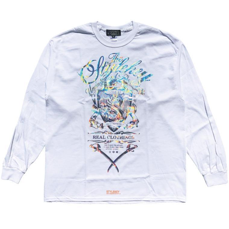 STYLEKEY CLASSIC LABEL(スタイルキー クラシック・レーベル) 長袖Tシャツ KILLEMB L/S TEE(SK99CL-LS06) ロンT ストリート 箔 エンブレム 大きいサイズ|b-bros|08