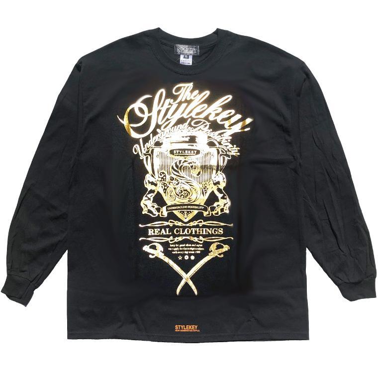 STYLEKEY CLASSIC LABEL(スタイルキー クラシック・レーベル) 長袖Tシャツ KILLEMB L/S TEE(SK99CL-LS06) ロンT ストリート 箔 エンブレム 大きいサイズ|b-bros|09