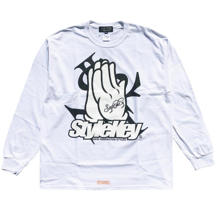 STYLEKEY CLASSIC LABEL(スタイルキー クラシック・レーベル) 長袖Tシャツ PRAY FOR YOU L/S TEE(SK99CL-LS10) ロンT ストリート ヒップホップ 大きいサイズ b-bros 08