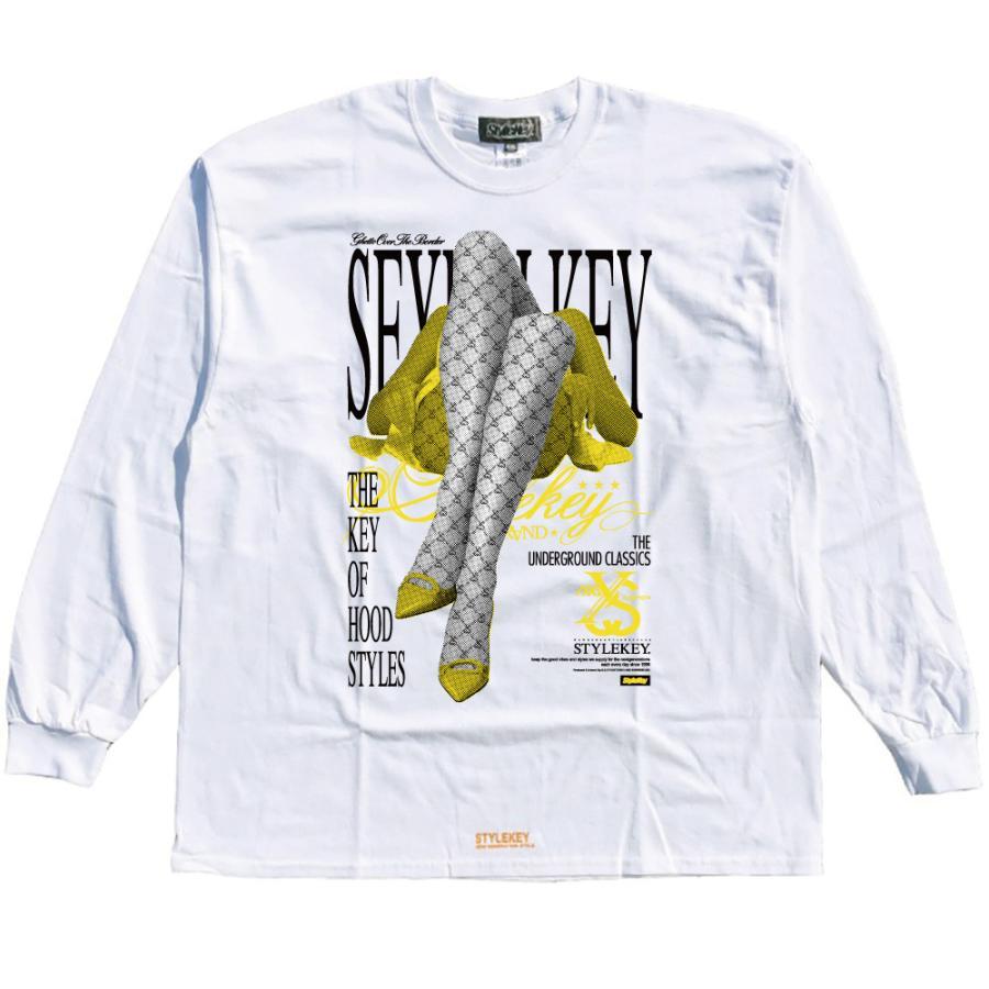 STYLEKEY CLASSIC LABEL(スタイルキー クラシック・レーベル) 長袖Tシャツ FLOWER L/S TEE(SK99CL-LS11) ロンT ストリート ヒップホップ 大きいサイズ|b-bros|08