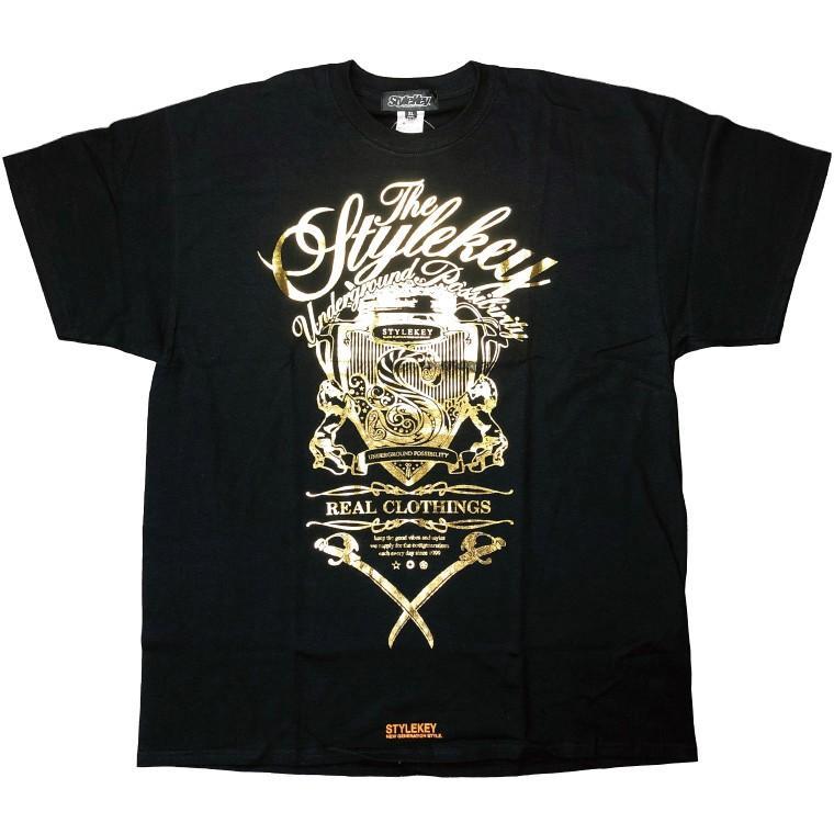 STYLEKEY CLASSIC LABEL スタイルキー クラシック・レーベル 半袖Tシャツ KILLEMB S/S TEE(SK99CL-SS04) ストリート ヒップホップ レゲエ 箔 B系 大きいサイズ b-bros 09