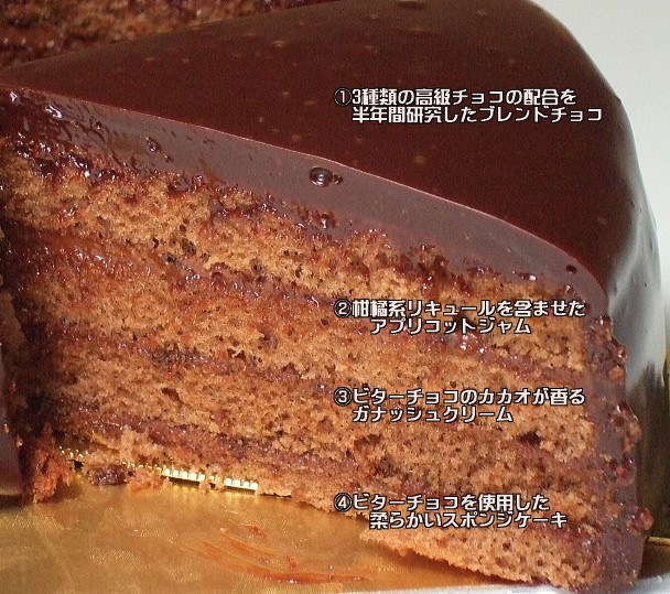 おいしいチョコレートケーキ