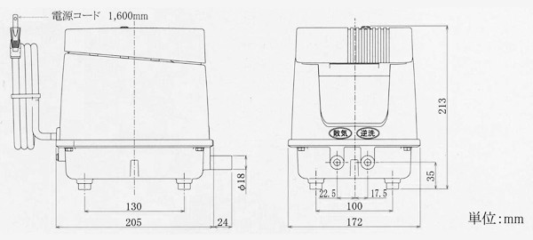 ブロア 安永EP80E-L 詳細図