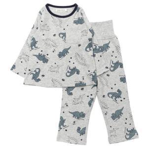 BABBLE BOON(バブルブーン)恐竜総柄パジャマ(長袖) (80〜130cm)  男の子 80 90 95 100 110 120 130 キムラタン 子供服 本体綿100%|ベビー・子供服のキムラタン