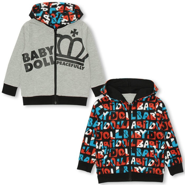 50%OFF SALE ベビードール BABYDOLL 子供服 リバーシブルジップパーカー ベビーサイズ キッズ-9990K|babydoll-y|07