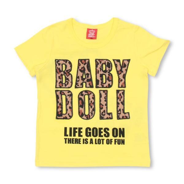 10/23まで60%OFF!SALE ベビードール BABYDOLL 子供服 親子お揃い ヒョウ柄 貼付 Tシャツ 2028K キッズ 男の子 女の子 babydoll-y 12