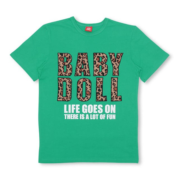 50%OFF SALE ベビードール BABYDOLL 子供服 親子お揃い ヒョウ柄 貼付 Tシャツ 2028A 大人 レディース メンズ babydoll-y 09