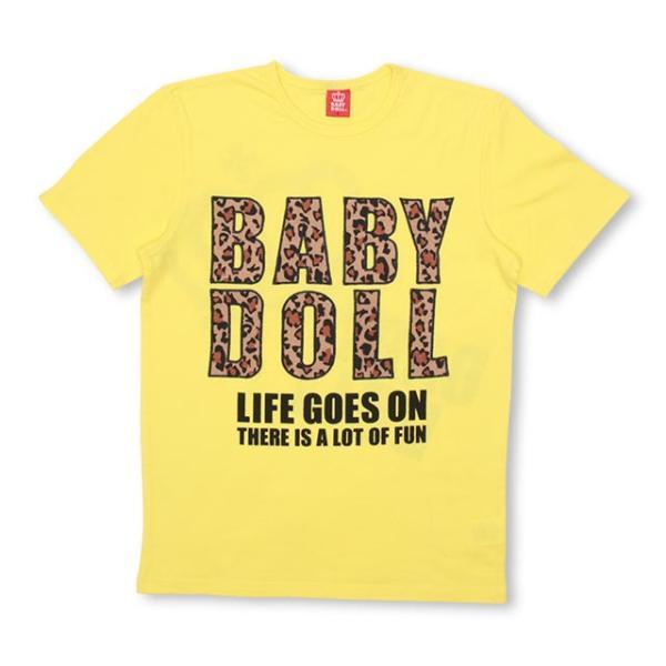50%OFF SALE ベビードール BABYDOLL 子供服 親子お揃い ヒョウ柄 貼付 Tシャツ 2028A 大人 レディース メンズ babydoll-y 10