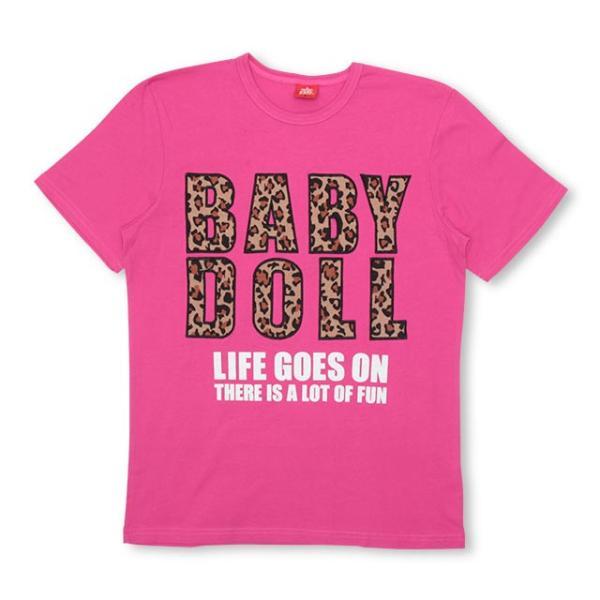 50%OFF SALE ベビードール BABYDOLL 子供服 親子お揃い ヒョウ柄 貼付 Tシャツ 2028A 大人 レディース メンズ babydoll-y 11
