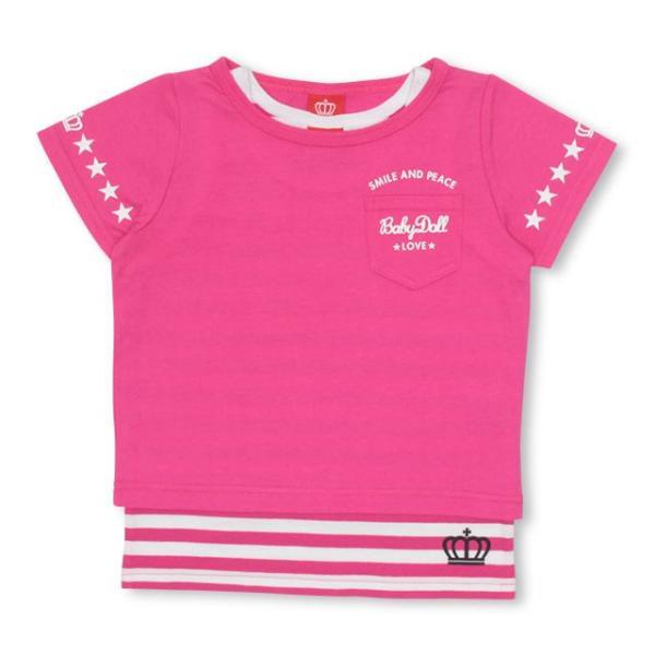 9/24まで60%OFF!50%OFF SALE ベビードール BABYDOLL 子供服 タンクトップ付き Tシャツ 2172K キッズ 男の子 女の子 babydoll-y 10
