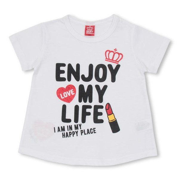 50%OFF SALE ベビードール BABYDOLL 子供服 リップメッセージ Tシャツ 2247K キッズ 女の子|babydoll-y|08