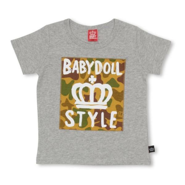 10/23まで60%OFF!SALE ベビードール BABYDOLL 子供服 親子お揃い 総柄 貼付 Tシャツ 2253K(ボトム別売) キッズ 男の子 女の子|babydoll-y|10