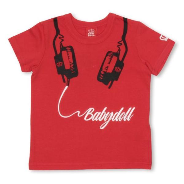 10/23まで60%OFF!SALE ベビードール BABYDOLL 子供服 親子お揃い ヘッドフォン Tシャツ 2263K キッズ 男の子 女の子|babydoll-y|10