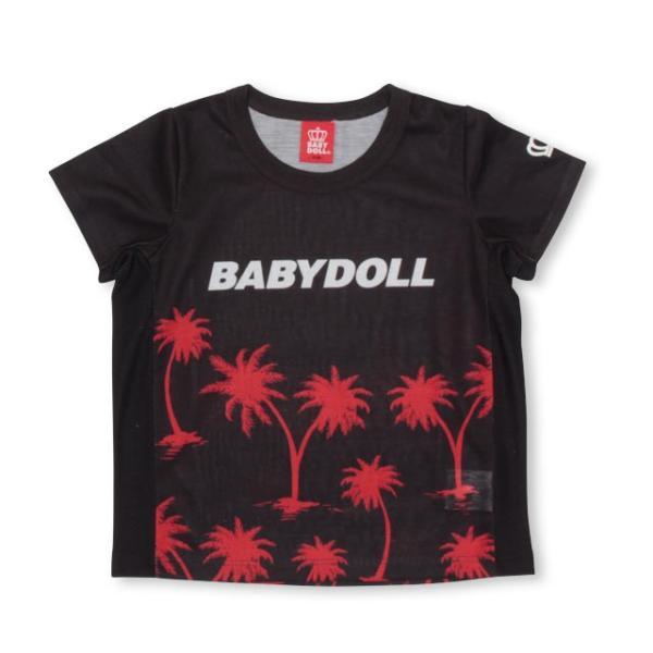 ベビードール BABYDOLL 子供服 親子お揃い ヤシの木柄 Tシャツ 2412K (ボトム別売) キッズ 男の子 女の子 30s|babydoll-y|08