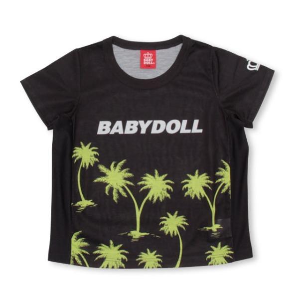 ベビードール BABYDOLL 子供服 親子お揃い ヤシの木柄 Tシャツ 2412K (ボトム別売) キッズ 男の子 女の子 30s|babydoll-y|09