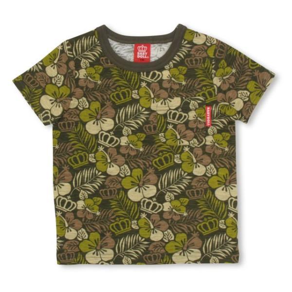 50%OFF SALE ベビードール BABYDOLL 子供服 王冠 ハイビスカス柄 Tシャツ 2417K(ボトム別売) キッズ 男の子 女の子|babydoll-y|08