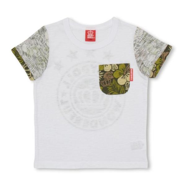 30%OFF SALE ベビードール BABYDOLL 子供服 ポケット ハイビスカス柄 Tシャツ 2418K(ボトム別売) キッズ 男の子 女の子|babydoll-y|09