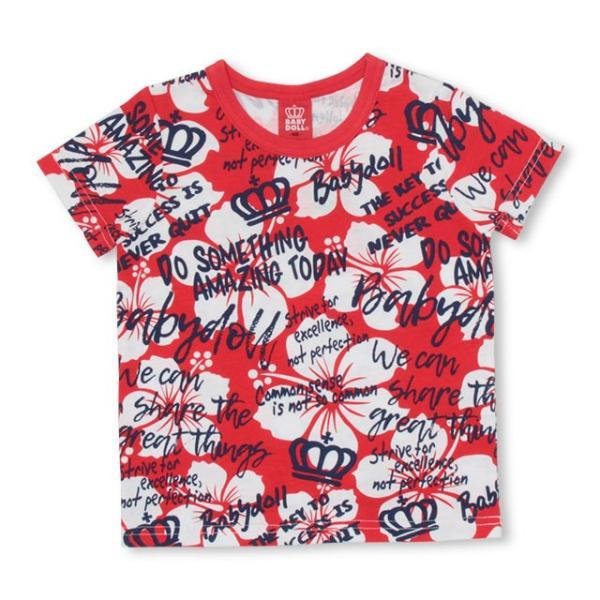 50%OFF SALE ベビードール BABYDOLL 子供服 ラクガキ 総柄 Tシャツ 2459K キッズ 男の子 女の子|babydoll-y|08