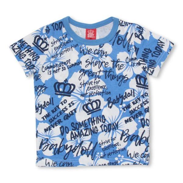50%OFF SALE ベビードール BABYDOLL 子供服 ラクガキ 総柄 Tシャツ 2459K キッズ 男の子 女の子|babydoll-y|10
