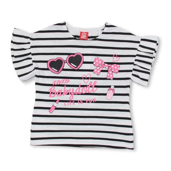 8/26まで60%OFF!限定SALE ベビードール BABYDOLL 子供服 ガーリー モチーフ Tシャツ 2586K キッズ 女の子|babydoll-y|09