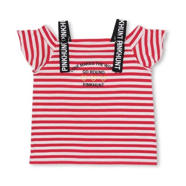 50%OFF SALE ベビードール BABYDOLL 子供服 PINKHUNT PH 肩ストラップ ボーダー Tシャツ 2759K キッズ ジュニア 女の子|babydoll-y|09