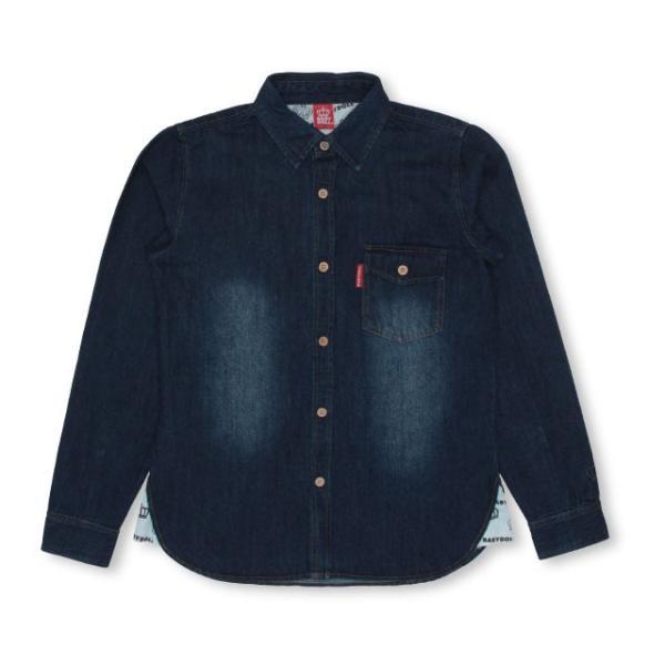 ベビードール BABYDOLL 子供服 親子お揃い デニム シャツ ジャケット 2925A 大人 レディース メンズ|babydoll-y|07