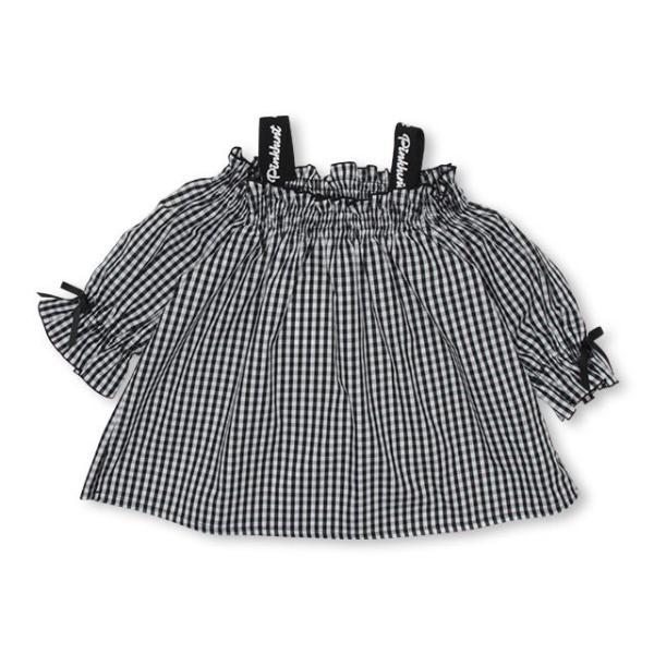 30%OFF SALE ベビードール BABYDOLL 子供服 PINKHUNT PH ギンガム チュニック Tシャツ 3142K (ボトム別売) キッズ ジュニア 女の子|babydoll-y|08