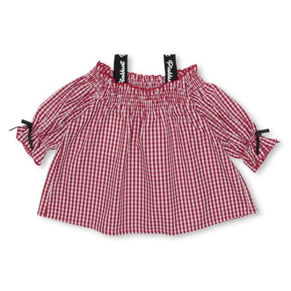 30%OFF SALE ベビードール BABYDOLL 子供服 PINKHUNT PH ギンガム チュニック Tシャツ 3142K (ボトム別売) キッズ ジュニア 女の子|babydoll-y|10