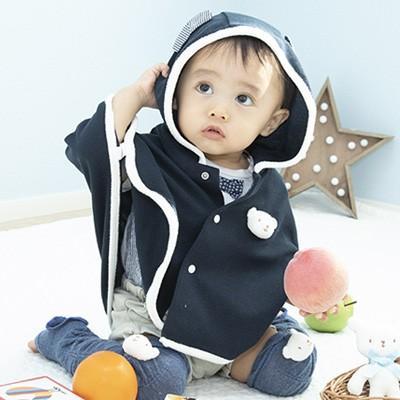 BabyGoose/ベビーグース しろくまさんUVマント