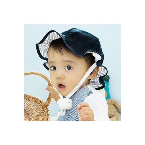 UVカット ベビー帽子 98%紫外線カット&クール!ママ安心♪「しろくまさん帽子」(ベビーグース)|babygoose|22