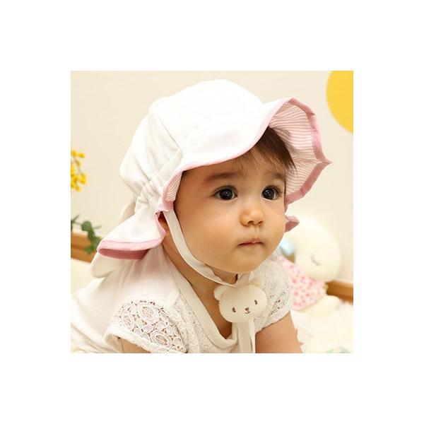 UVカット ベビー帽子 98%紫外線カット&クール!ママ安心♪「しろくまさん帽子」(ベビーグース)|babygoose|24