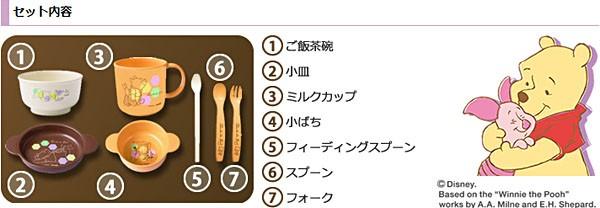 Combi【コンビ】くまのプーさん スマイル食器セットC