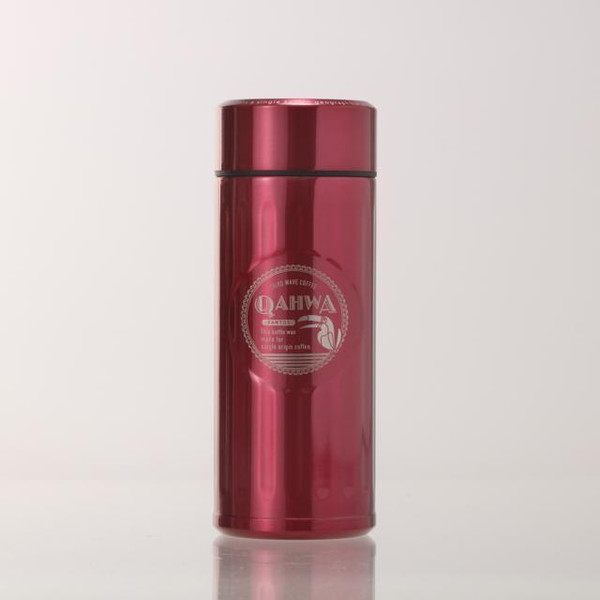 ステンレスボトル おしゃれ 420ml カフア QAHWA マグボトル テフロン加工 COFFEE こぼれない 定番 エンボスデザイン おしゃれ 保冷 保温 直飲み 飲み口|backyard-1|17