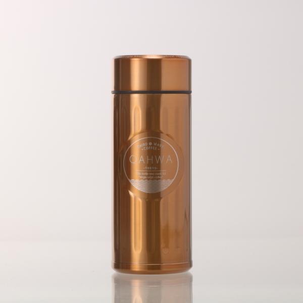 ステンレスボトル おしゃれ 420ml カフア QAHWA マグボトル テフロン加工 COFFEE こぼれない 定番 エンボスデザイン おしゃれ 保冷 保温 直飲み 飲み口|backyard-1|14