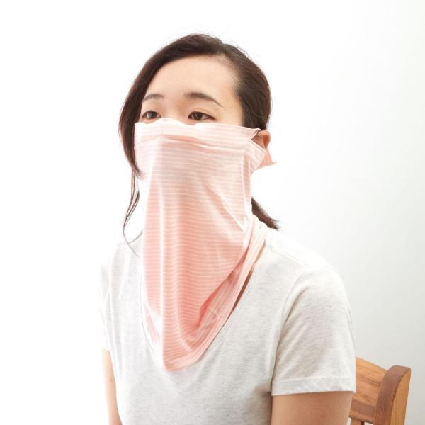 UVガード ネックガード フェイスガード UVカット フェイスマスク 接触冷感 日焼け防止 紫外線対策 UVネック&フェイスガードクール UVマスク 紫外線対策グッズ|backyard-1|08