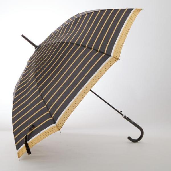 傘 レディース 長傘 ワンタッチ おしゃれ ジャンプ傘 アテイン かわいい 軽い 丈夫 おしゃれ 折れにくい ドット柄 ネコ ボーダー 58cm 軽量 グラスファイバー
